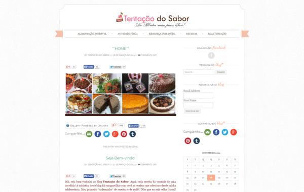 Blog Tentação do Sabor