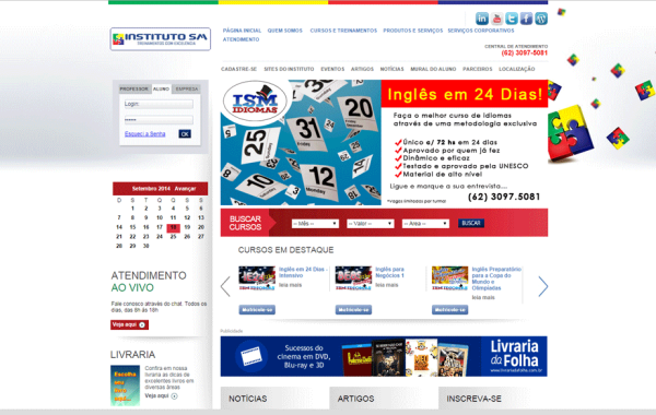 Site Customizado – Instituto SM
