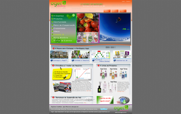 Site Customizado – Agel Membros Brasil