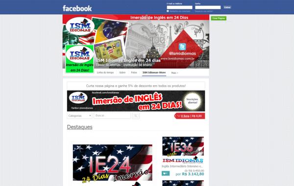 Modelo de Loja para Facebook