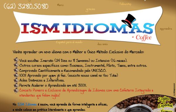 Flyer ISM Coffee & ISM Idiomas